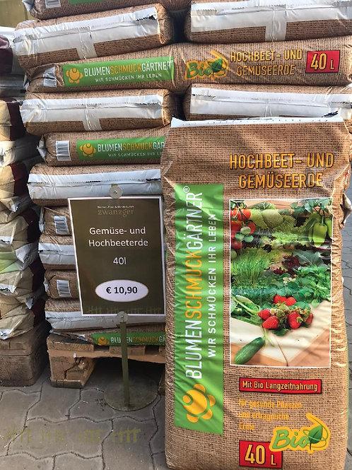 Gemüse- & Hochbeeterde - 40 Liter