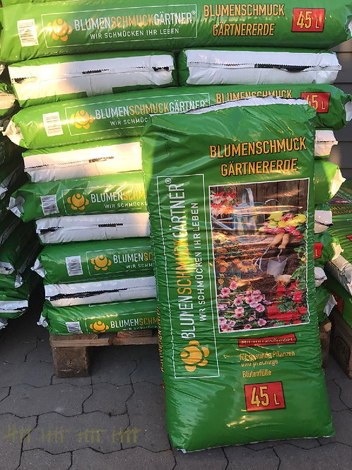 Blumenschmuckgärtnererde  - 45 Liter