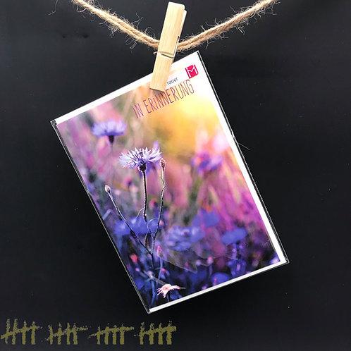 """Trauerkarte """" In Erinnerung"""""""
