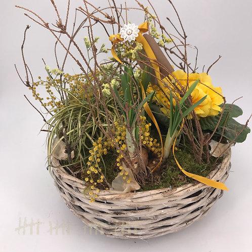 Frühlingskorb gelb
