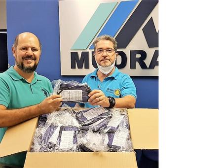 Rotary Clube Saúde doa 1.000 máscaras de proteção ao Hospital da Polícia Militar.