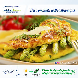 lunch meal plan - herb omelette with asparagus