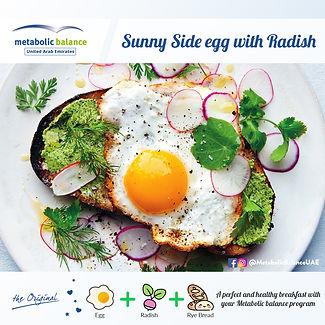 breakfast meal plan - sunny side egg wit radis