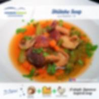 dinner meal plan - shiitake soup