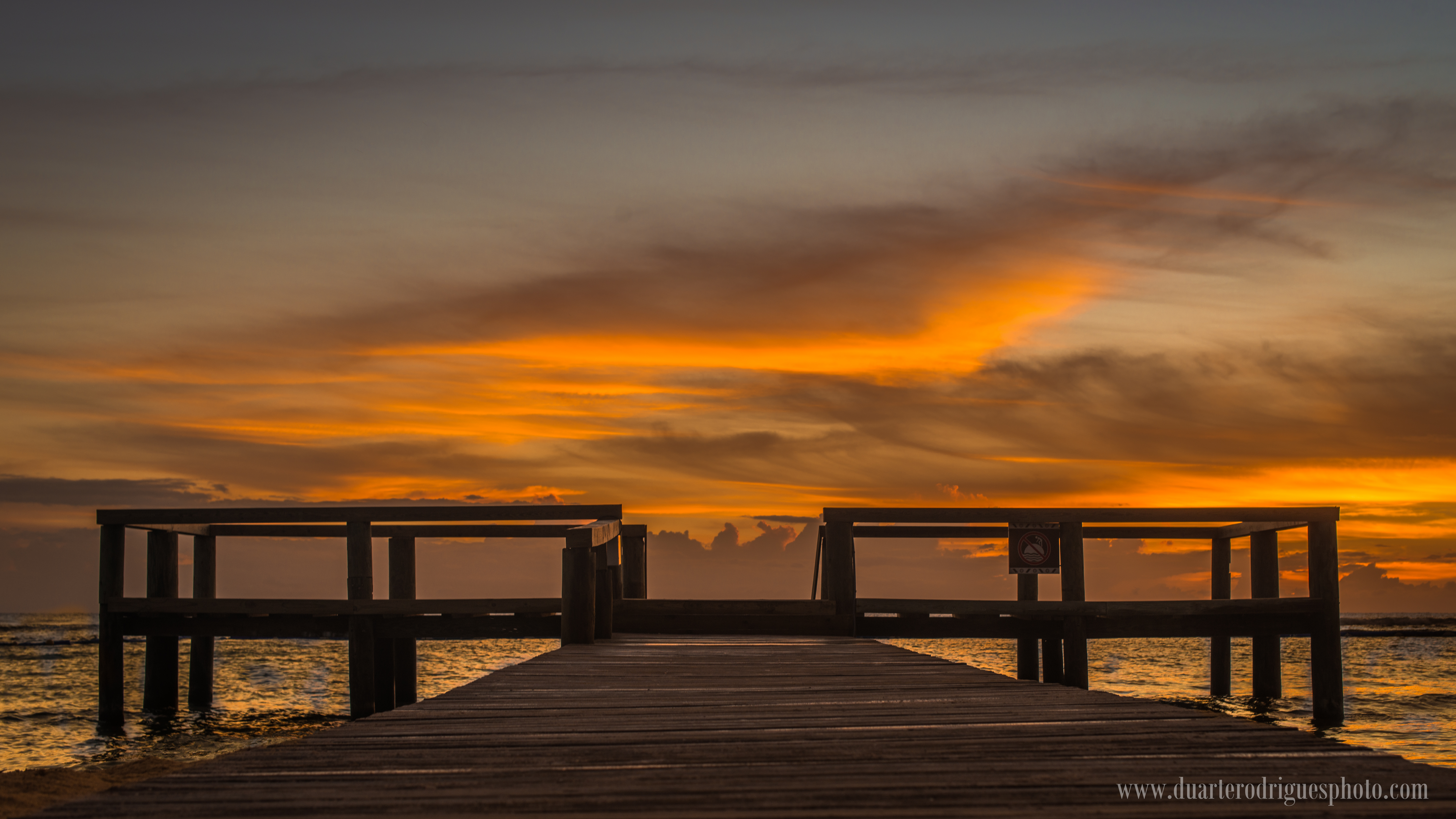 Rising day on the pier