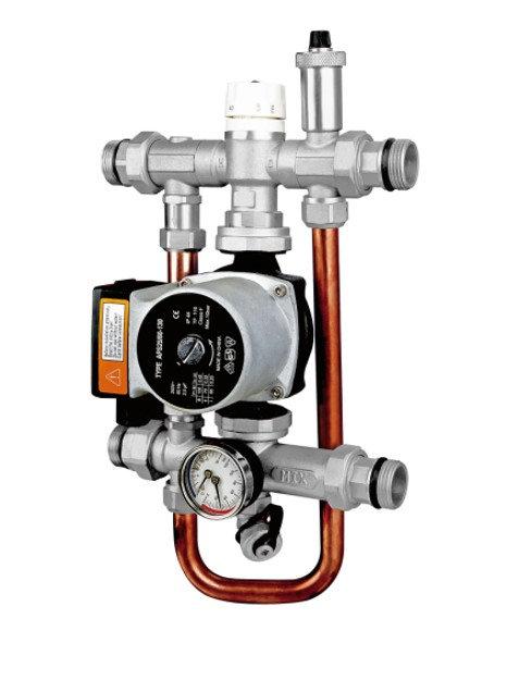 Насосно-смесительный узел для теплого пола KVS=3.5, 20÷65°С, 20 кВт, VR207