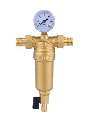Фильтр промывной с манометром для горячей воды