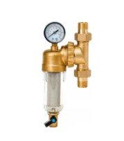 Фильтр свободного вращения промывной с манометром для холодной воды