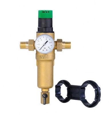 Фильтр промывной с редуктором для горячей воды