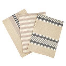 Gray 3 Pc Cotton Kitchen Towels