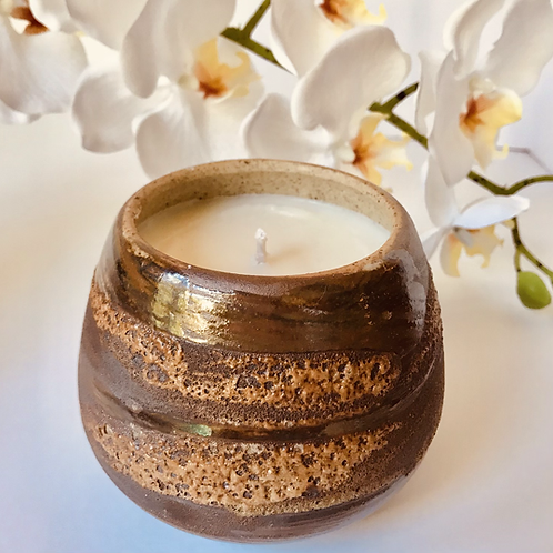 Earth Soy Candle, Vegan Pottery Candle, Pottery Gift