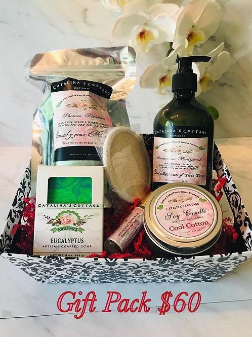 Gift Pack - Eucalyptus Spa Basket