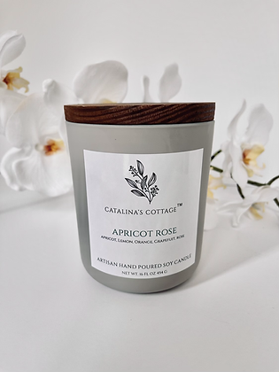 Apricot Rose Luxury Soy Candle