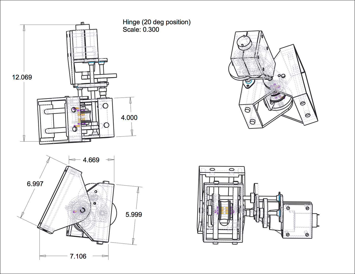 Mechanism Assembly Drawing
