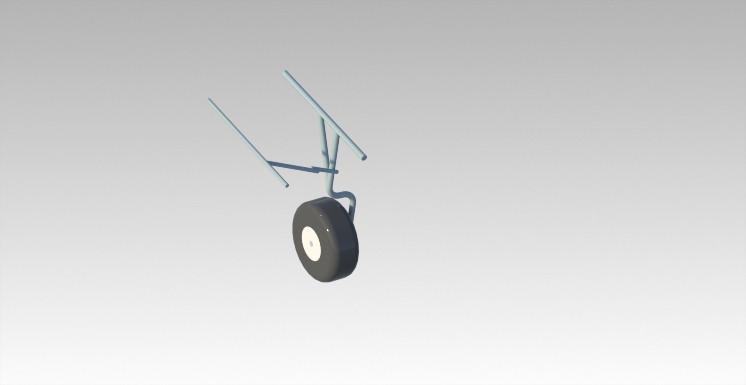 Side Wheel - Retracted