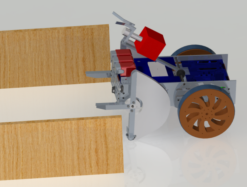 Rendering of the robot and the chute