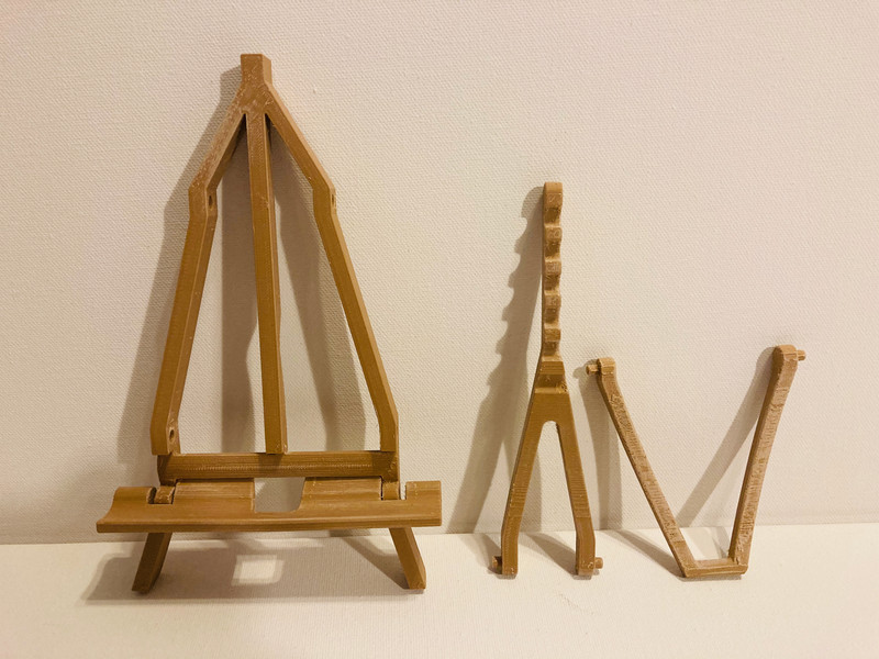 Easel Disassembled