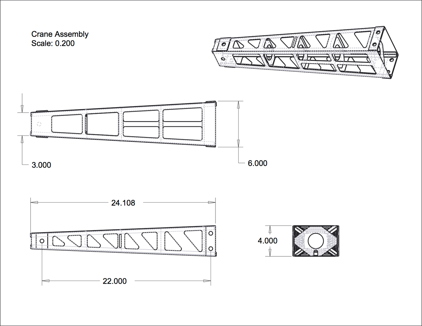 Crane Assembly Drawing