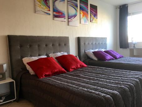 Nouvelle Décoration Cosy pour notre Appart'hotel City Break Eurexpo Grand Stade OL