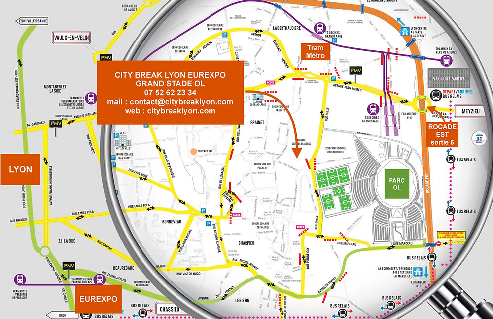 City Break Lyon Eurexpo Grand Stade OL