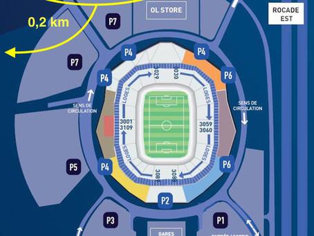 Plan d'accès Grand Stade Olympique Lyonnais
