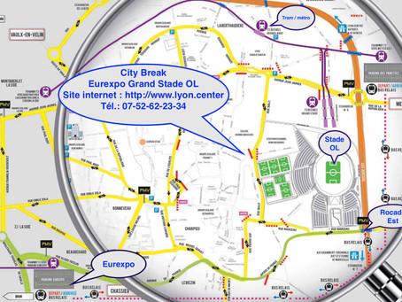 Plan City Break Eurexpo Grand Stade OL