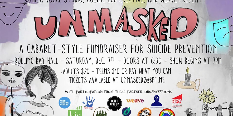 Unmasked: A Teen Cabaret-Style Fundraiser for Suicide Prevention