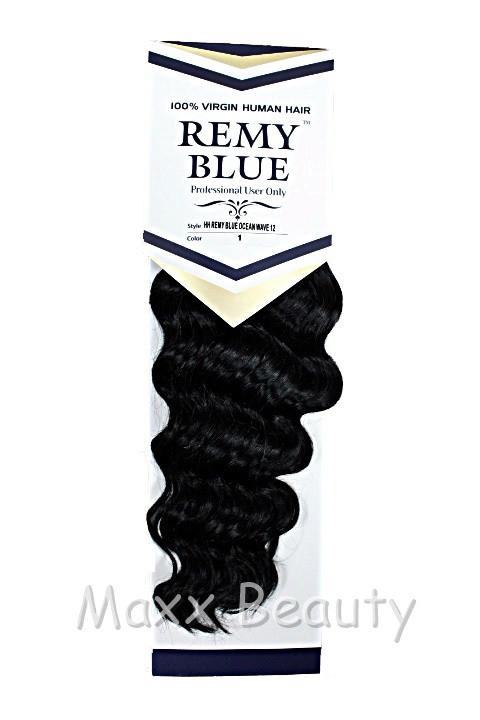 Remy Blue Hair 100 Human Hair Weave Ocean Wave