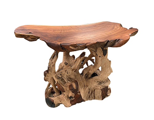 Teak Slab Bar Table 36