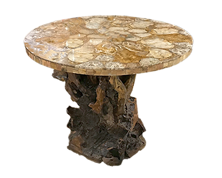 Petrified Wood Top Bar_Round