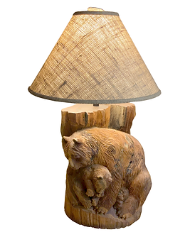 BearCarvingTableLamp