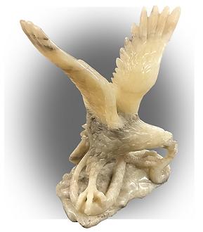 Onyx Eagle with Snake