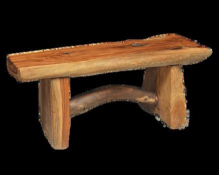 Slab Teak Bench