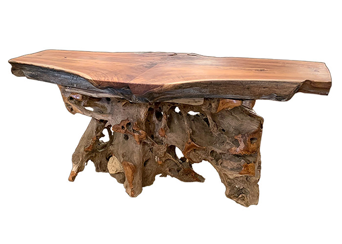Split-Top Teak Slab Bar