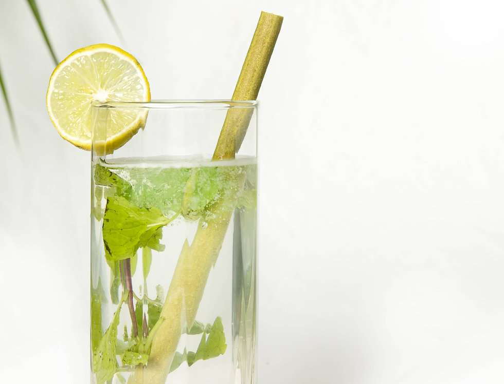 Flavored edible drinking straws -Lime Pinch