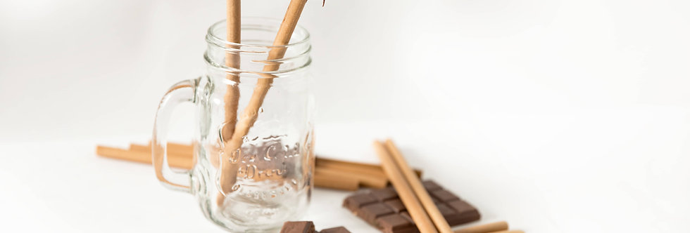 Flavored edible drinking straws - Choco Lust