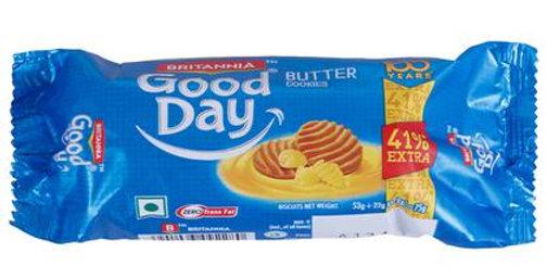 Britannia Good Day Butter Cookies 75 gm|Pack 6 Pcs