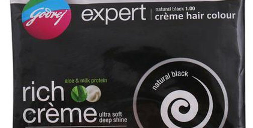 Godrej Expert Rich Crème Ammonia Free Hair Colour, Natural Black (20 g + 20 ml)