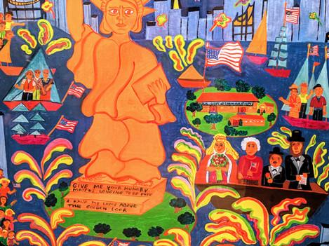 Malcah Zeldis painting