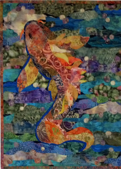Class Sample for Collage Quilting