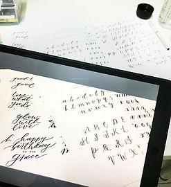 online brush lettering workshop thewhite