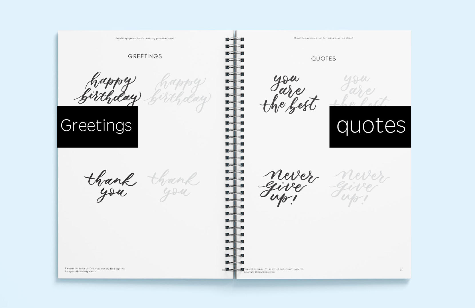 Greetings & Quotes Brush Lettering