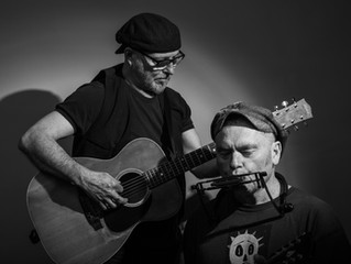 Wayne Jury in concert with Justin Brady. At the 44th Port Fairy Folk Festival.   March 6 - 9, 2020.
