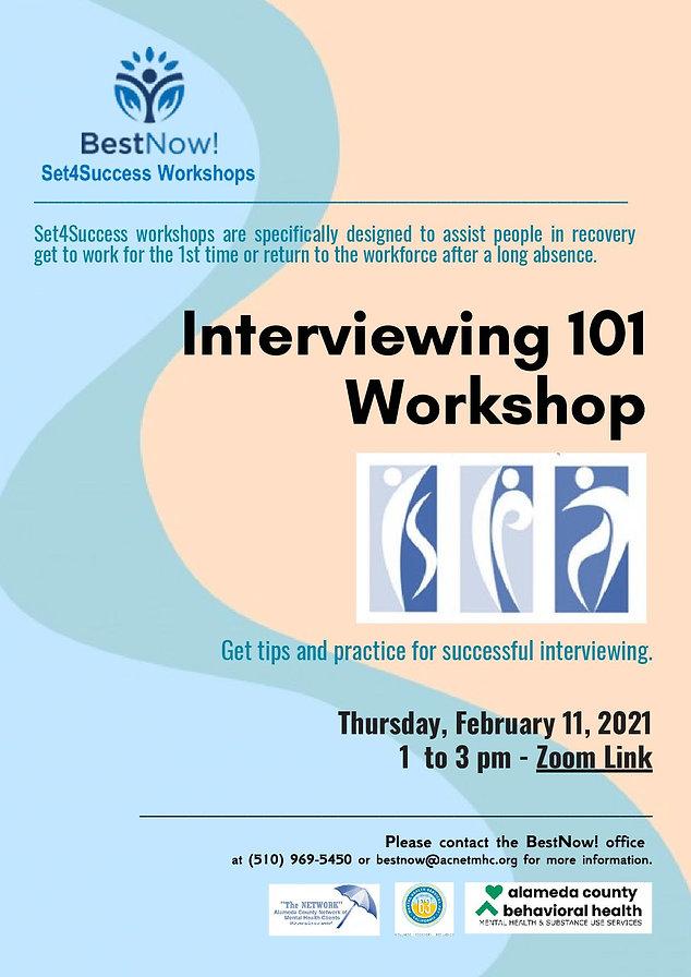 Set4Success Interviewing 101 Workshop 2-