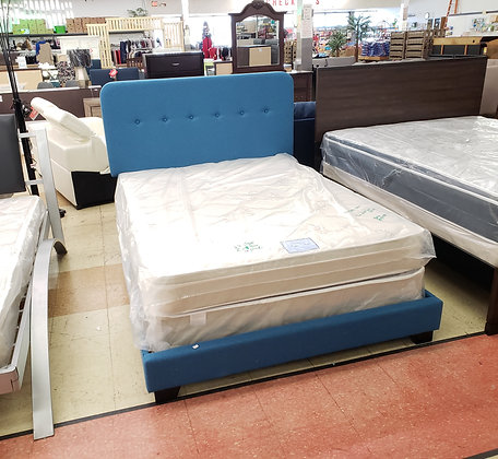 Helene Full Size Bed with Mattress Set