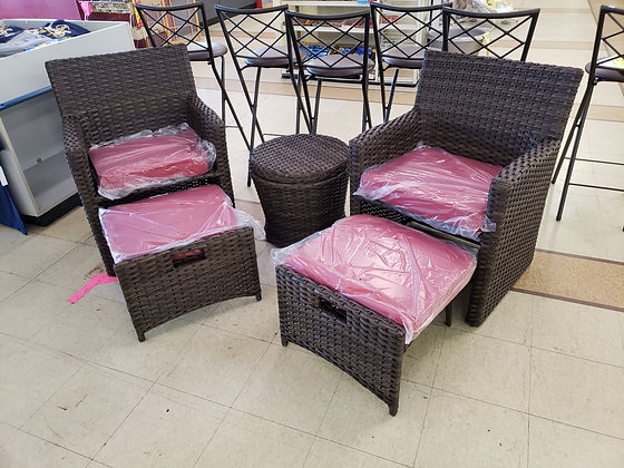 Wicker Outdoor Patio Chat Set