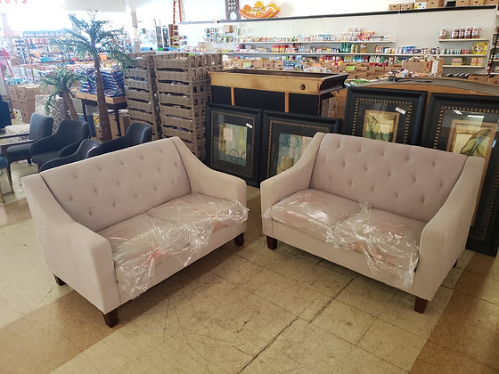 Pair of Felton Tufted Loveseats