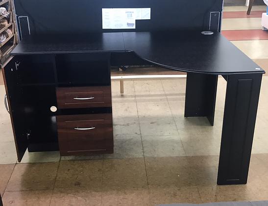 Black Top Corner Desk