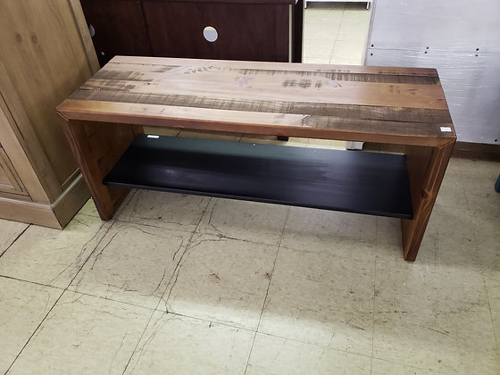 Solid Pine Rustic Entry Bench