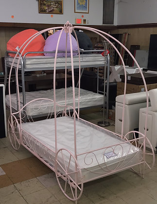 Pink Princess Carriage Bed